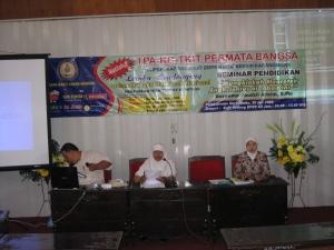 Seminar Pendidikan yang diselenggarakan oleh devisi Pendidikan Yabima di Gedung DPRD Kab. Gunungkidul